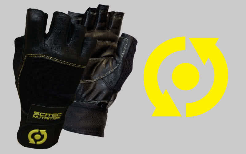 Scitec Nutrition Yellow Leather Style gloves pair